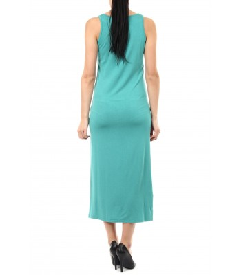 Druguay Maxi kjole (Teal - Kun M)